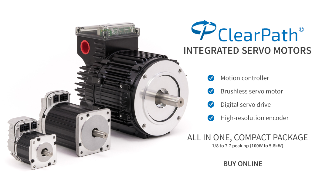 ClearPath Brushless DC Servo Motors