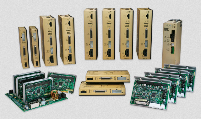The Eclipse family of brushless servo drives.