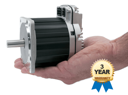 ClearPath integrated servo motor, drive, and encoder, fit in your hand and have a 3 year warranty