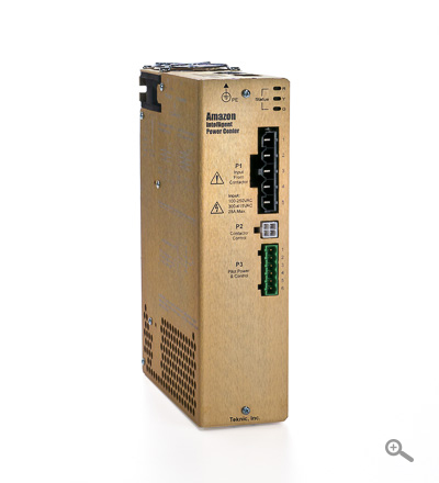High Voltage (132-400 VDC) Motor Drive Power Supply; up to 6,800 Watts power, 211 Joules capacitance, and 150 Watt regen