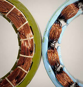 i.	ClearPath motor's overlapping coils (left) enhance motor smoothness and power; reduces torque ripple, cogging, and detent