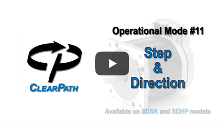 ClearPath-SD Step and Direction Mode Overview